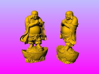 元宝弥勒佛-3d打印模型