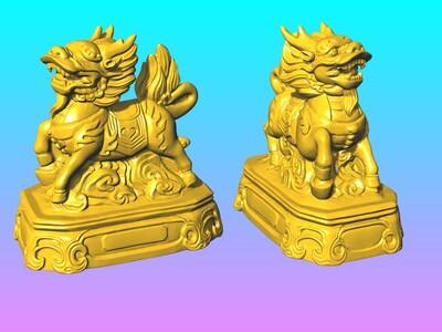 神兽麒麟摆件 1-3d打印模型
