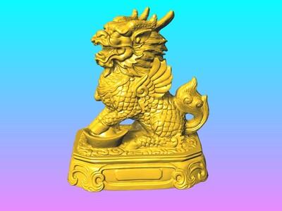 神兽麒麟摆件 4-3d打印模型