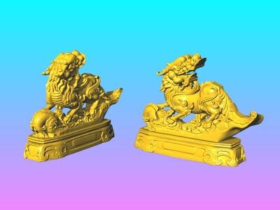 神兽麒麟摆件 5-3d打印模型