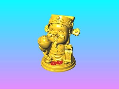 五路财神爷-东招宝财神客厅摆件-3d打印模型
