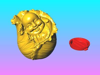 弥勒佛存钱罐-3d打印模型