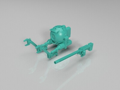 机动战士高达铁球-3d打印模型