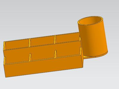 螺丝盒子+工具桶-3d打印模型