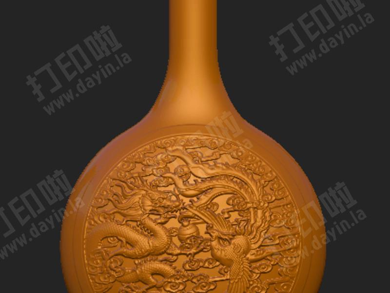 龙凤呈祥 花瓶-3d打印模型