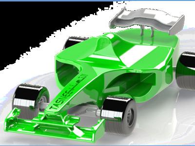 赛车-可拼装-3d打印模型