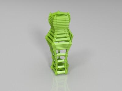 框架笔筒  原创-3d打印模型