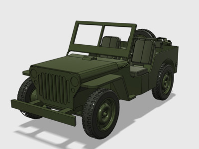 1:6兵人载具威利斯(拼装版)-3d打印模型
