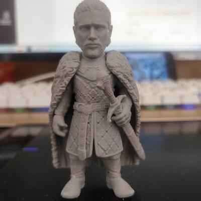 权力的游戏——琼恩雪诺-3d打印模型