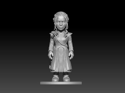 权力的游戏——龙母-3d打印模型