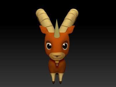 羊鹿卡通-3d打印模型