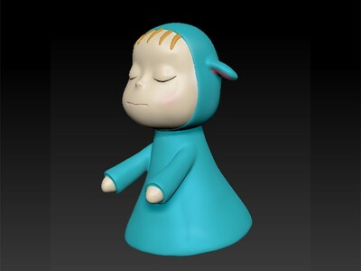 梦游娃娃卡通-3d打印模型