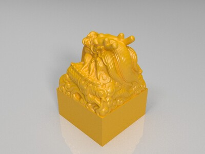 玉玺印章-3d打印模型