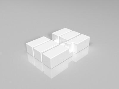 三棒鲁班锁-3d打印模型