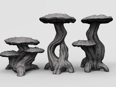 蘑菇-3d打印模型