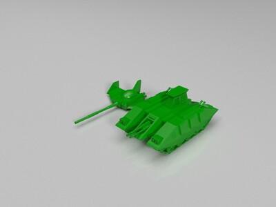 机动战士高达玛捷拉坦克-3d打印模型
