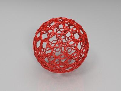 爱心镂空球-3d打印模型