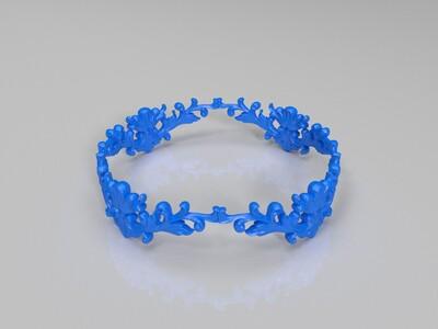 雕花头冠 原创-3d打印模型