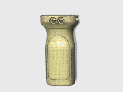 马盖普前战术握把(21毫米导轨通用款)-3d打印模型
