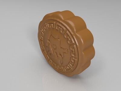 皮卡丘月饼1 -3d打印模型