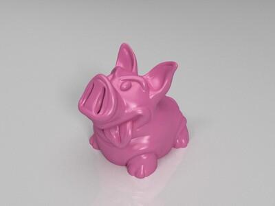 猪存钱罐-3d打印模型