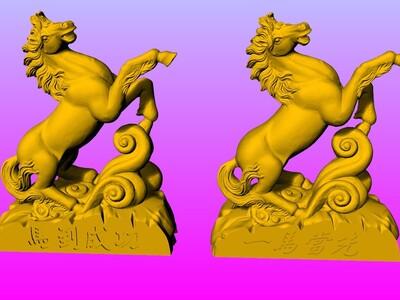 一马当先-马到成功摆件 2-3d打印模型