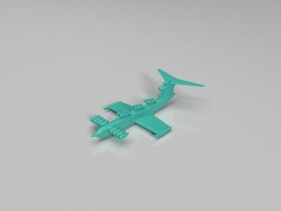 Экраноплан里海怪物-3d打印模型