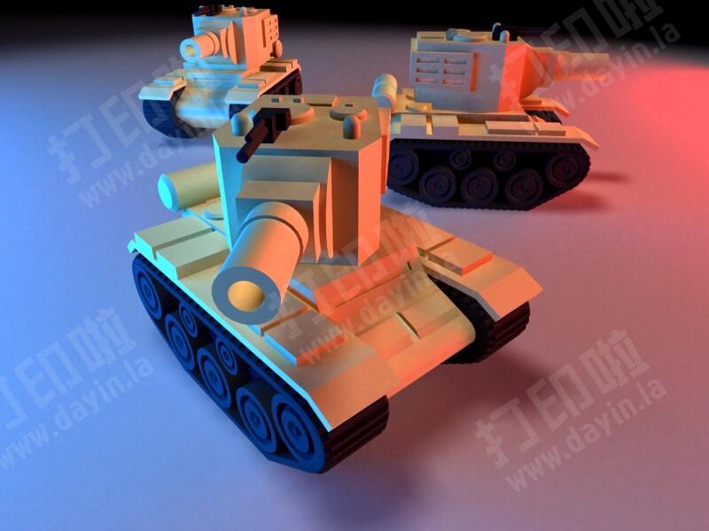 坦克 分体可组装-3d打印模型