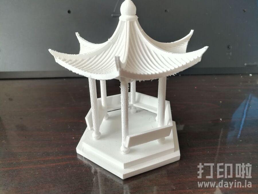中国八角亭子-3d打印模型