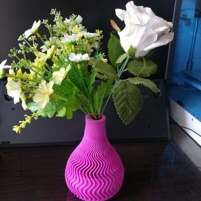 花瓶10_波纹花瓶-3d打印模型