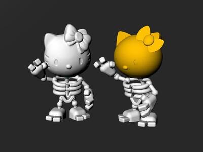 凯蒂猫组合玩具-3d打印模型