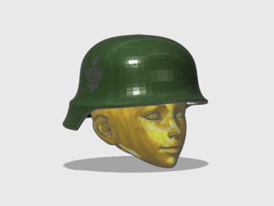 1:6兵人用德军头盔-3d打印模型