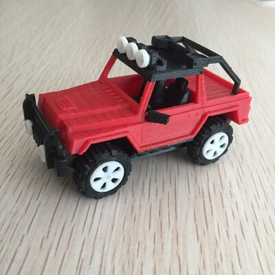 吉普车-仿真拼装版-3d打印模型