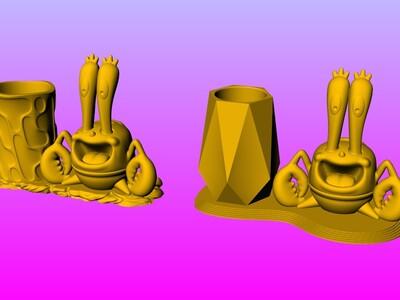蟹老板笔筒-3d打印模型