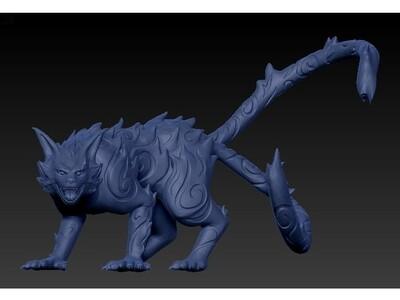 火影忍者二尾又旅-3d打印模型