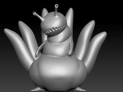 火影忍者六尾犀犬-3d打印模型