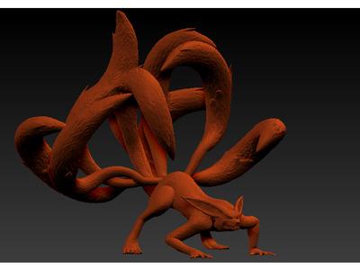 火影忍者九尾九喇嘛-3d打印模型