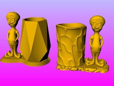 章鱼哥笔筒-3d打印模型