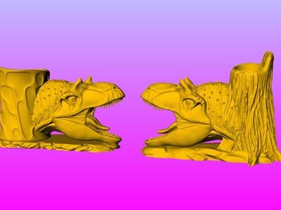 异特龙笔筒-3d打印模型