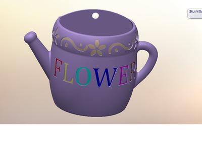 水壶壁挂花盆-3d打印模型