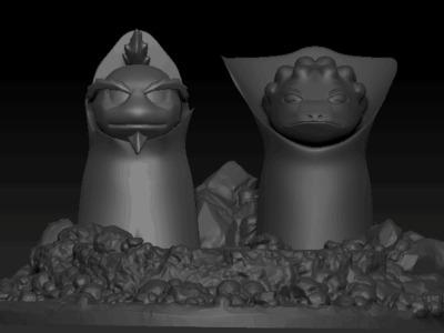火影忍者蛤蟆仙人-3d打印模型