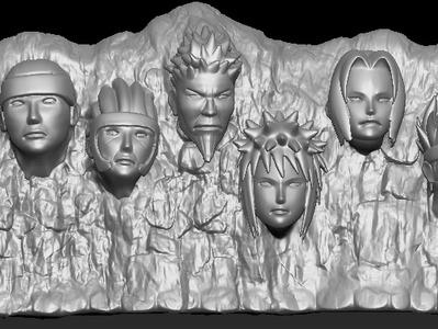 火影忍者岩石雕像-3d打印模型