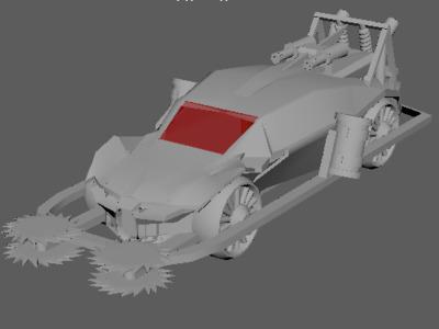 科幻跑车-3d打印模型