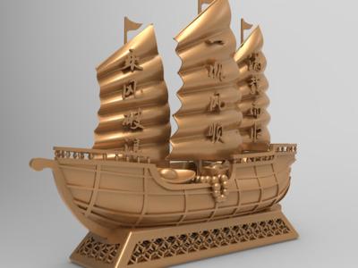 财源广进 一帆风顺-3d打印模型