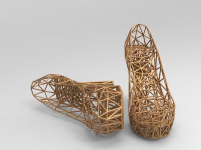 艺术镂空鞋-3d打印模型