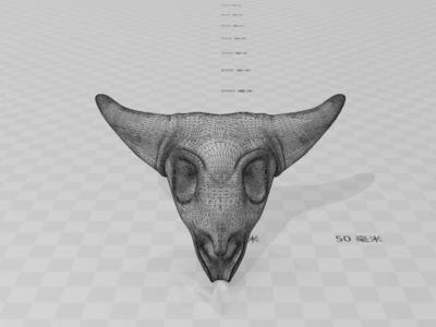 牛头骨图腾-3d打印模型