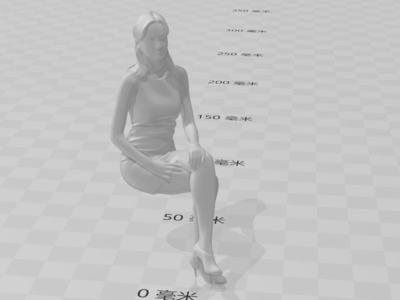 坐着的女人-毕加索-3d打印模型