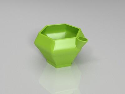 多肉小花盆-3d打印模型