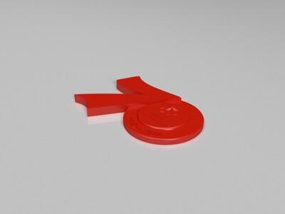 70周年徽章-3d打印模型