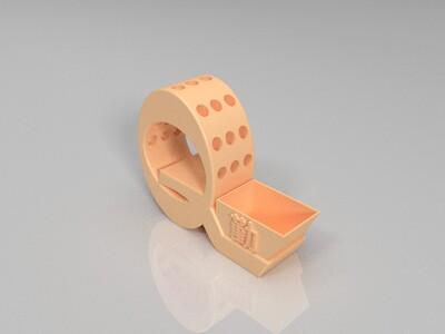勤字笔筒-3d打印模型